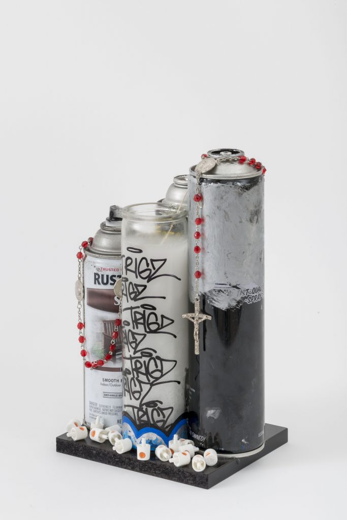 Spray Can Altar © 2015 mixed media
