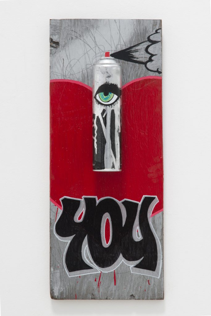 Can I Love You? © 2014 mixed media on wood 10 x 25 inches (25.4 x 63.5 cm)